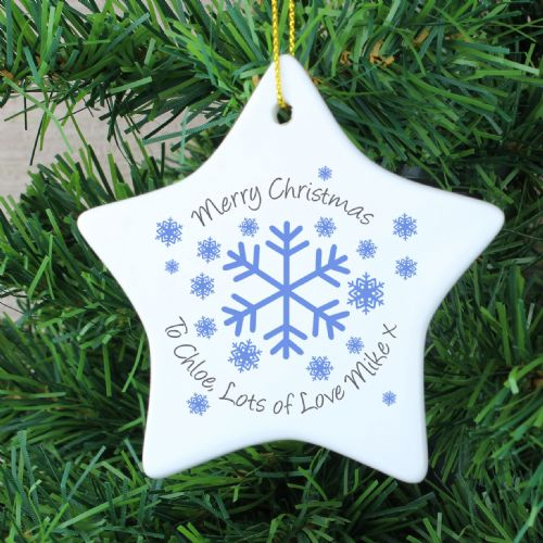 Personalised Snowflake Star Decoration